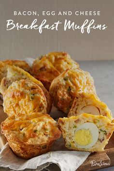 Bacon, Egg and Cheese Breakfast Muffins via @PureWow