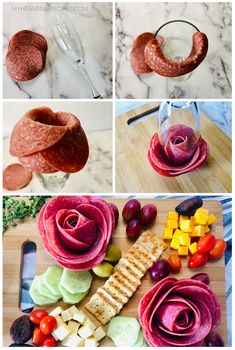 Charcuterie Board Meats, Charcuterie Recipes, Charcuterie Picnic, How To Make Salami, Kreative Snacks, Party Food Platters, Food Decoration, Creative Food, Appetizer Recipes