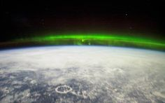 Northern lights shot from space