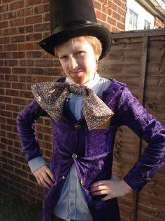 World book day costume. Wily wonka