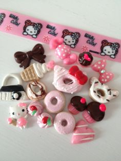 Kawaii Deco DIY Phone deco Sweets Cabochons by ExactNature on Etsy only $10!