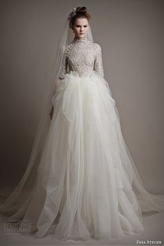 ersa atelier 2015 bridal collection elmina gown sleeves