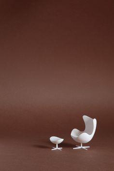 Sergio Magnano 3D print PLA, Egg Chair, design Arne Jacobsen.