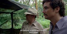 """""""It's basically #kale"""" #narcos #netflix"""