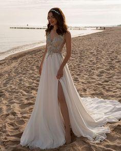 18 Absolutely Gorgeous Destination Wedding Dresses ❤ destination wedding dresses a line lace top with slit tina valerdi #weddingforward #wedding #bride #weddingoutfit #bridaloutfit #weddinggown