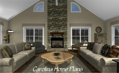 Midsize Country Cottage House Plan with open floor plan layout for spacious and comfortable living.