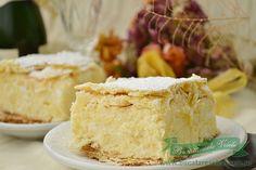 prajitura cremsnit Sweets Recipes, Cooking Recipes, Desserts, Romanian Food, Romanian Recipes, Dessert Drinks, Something Sweet, I Foods, Vanilla Cake