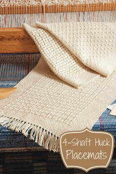 With a different huck treadling for each of these four elegant placemats, you'll be a huck master in no time! Get the pattern here and start learning the ins and outs of weaving huck.