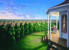 """My favorite by Rob Gonsalves - """"The Listening Fields."""""""