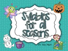 Syllables for all the seasons { FREEBIE }. I used the Christmas time one. We just used the Lucky syllables one now too.