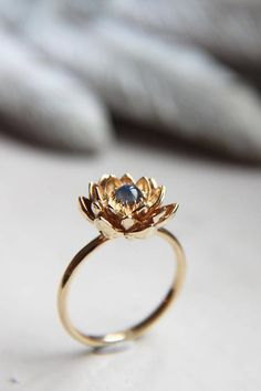 Prepayment for rose gold moonstone lotus ring size 7 1/2