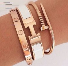 Our Hermes&Cartier inspired ArmCandy 🍭 Hermes Armband, Cartier Armband, Cartier Bracelet, Cartier Jewelry, Jewellery, Hippie Jewelry, Dainty Jewelry, Cute Jewelry, Vintage Jewelry