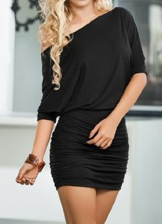 Sexy&angel Black Sexy simple small skirt folds evening dress, night club clothing, temptation of uniforms by Sexy&angel, http://www.amazon.ca/dp/B00H46PPPS/ref=cm_sw_r_pi_dp_bWadtb1MEGH3C