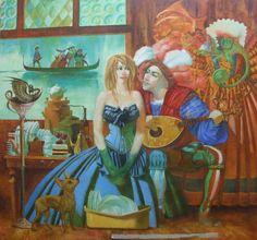 Dmitry Timofeev - Don juan Don Juan, Artist Painting, Gallery, Red, Image, Turquoise, Roof Rack