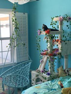 Cat Tree House, Cat House Diy, Cute Room Ideas, Cute Room Decor, Room Ideas Bedroom, Bedroom Decor, Cat Room, Cat Decor, Pet Furniture