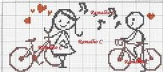 Resultado de imagen para graficos de bordado ponto cruz casais