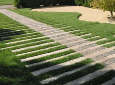 more grass, less concrete