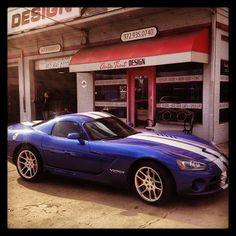 hot blue dodge viper!