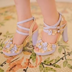 Korean Floral Spring Shoes