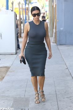 Kim Kardashian Leaves Little to the Imagination in a Sheer Top