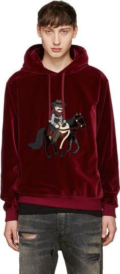 Dolce & Gabbana - Red Velvet Cowboy Hoodie