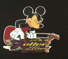 Disney Pin WDW Rock 'N Roller Coaster Mickey Mouse on Guitar 1   eBay