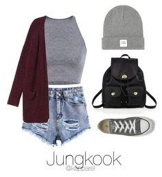 """School Day with Jungkook"" by kapparel ❤ liked on Polyvore featuring Coach, Monki, Opening Ceremony and Converse"