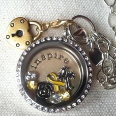 Support those you know battling cancer with a locket from Origami Owl. Brain cancer survivor