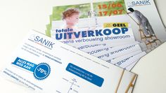 Sanik utverkoop showroom: flyers Distripost