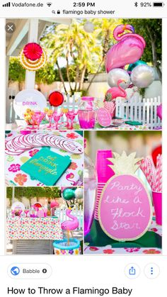 How to Throw a Perfectly Pink Flamingo-Themed Baby Shower – Suis Enceinte Free Baby Shower Games, Baby Shower Games Unique, Baby Shower Fun, Baby Shower Themes, Shower Ideas, Fun Baby, Baby Showers, Flamingo Baby Shower, Flamingo Party
