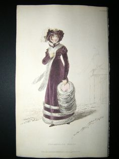 1822 walking dress Ackermann
