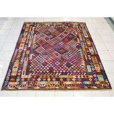 Rento Design Kelim-matto - luumu, 200 x 236 cm