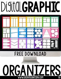 free digital graphic organizers and how to use them subjects Creative Graphic Organizer, Math Graphic Organizers, Graphic Organisers, High School History, Google Classroom, Classroom Ideas, Interactive Notebooks, Educational Technology, Free Apps