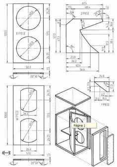 Planos Bafles Cajas Acusticas 15 15 18 Audiocar Profesional