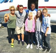 Charlie and his girls:Sheen, who turned 51 on Saturday, celebrated with his ex-wife Denise Richards and their girls, Sam, 11, and Lola, 10, plus Denise's adopted daughter Eloise, five