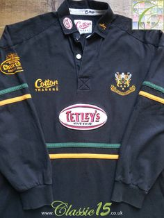 Relive Northampton Saints' season with this vintage Cotton Traders away long sleeve rugby shirt. Rugby Kit, Northampton Saints, Long Sleeve Rugby Shirts, Vintage Cotton, The Past, Polo Ralph Lauren, Store, Classic, Mens Tops