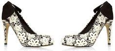 Next lace bow back court shoes