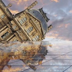 """Reflection at the pyramid of the Louvre in Paris. """"The Louvre"""" My # one favorite place in Europe! I've been three times & still it seems there's never enough time. I could spend a full week & then some, just getting lost in it's art & beauty. Best Vacation Destinations, Best Vacations, Monuments, Hotel Des Invalides, Paris 3, Paris Louvre, Romantic Paris, Triomphe, Lakes"""