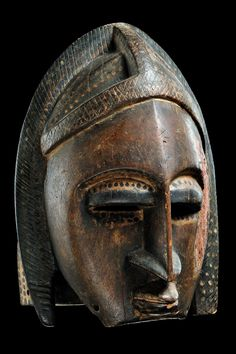 Africa | Helmet mask from the Bamana people of Mali | Wood, polychrome paint