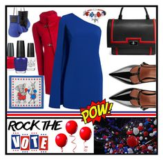 """""""Rock the Vote 2016"""" by na-pan on Polyvore featuring Mode, Barbara Blank, OPI, FAY, RED Valentino, Bling Jewelry, Jill by Jill Stuart, Givenchy, Elisabeth Weinstock und rockthevote"""