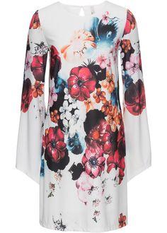 Šaty s květinovým potiskem bílo-červená s květy - koupit online - bonprix.cz Sexy květinové šaty s pěknými volánovými rukávy. Nepostradatelný kousek! Floral Tops, Bell Sleeves, Bell Sleeve Top, Flirt, Boutique, Sexy, Kimono Top, Cold Shoulder Dress, Clothes For Women