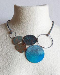Big Star in Blue Oxidized Copper Enamel 150º by mardecoLorrosa