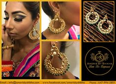 Ear Rings Pull Together Your Entire Look. From Simple Pearl Studs, To Pavé Hoops. There Is A Style For Every Occasion Specially Designed By Amoris By Shikha. To Place Your Order Contact: Call: +1 6479945801 Email: info@amorisbyshikha.com  web: http://amorisbyshikha.com/ #Amoris #Shikha #EarRings #New #Style #Glamour #Beautilful