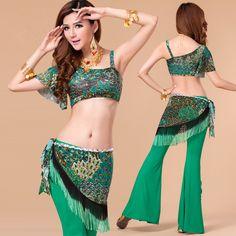 Barato atractivo del vientre traje de la danza para mujeres de danza del vientre ropa danza del vientre superior determinada la bufanda de la cadera profesional(China (Mainland))