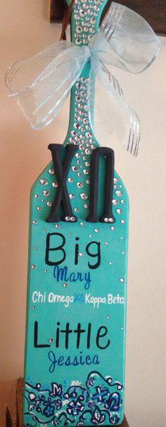 The sorority paddle I made for my big. Chi omega paddle