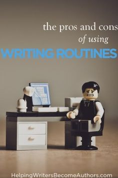 The Pros and Cons of Writing Routines - Helping Writers Become Authors Purple Pen, Sick Kids, Write It Down, Writing Resources, Office Desk, Something To Do, Routine, Authors
