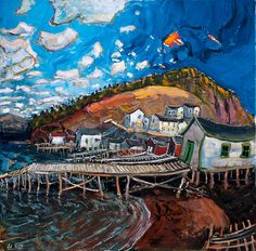 Pool's Cove by Jean Claude Roy Newfoundland And Labrador, Canadian Art, Quebec City, Henri Matisse, Van Gogh, Cottages, Art Photography, Canada, Cottage