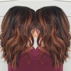 Trendy Hair Highlights : Red brown balayage by Rebecca at Avante Salon and Spa West Chester PA