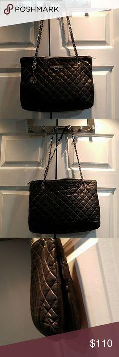 DKNY leather shoulder back Black shoulder back,  very soft leather, very good condition DKNY Bags Shoulder Bags