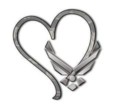 would get this as a tattoo more airforce tattoos air force tattoo Dad Tattoos, I Tattoo, Tatoos, Celtic Tattoos, Chest Tattoo, Air Force Love, Us Air Force, Air Force Tattoo, Hearts